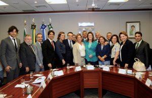 Bancada federal e líderes do RN acompanham Rosalba em audiência com a então presidente da Petrobras, Graça Foster