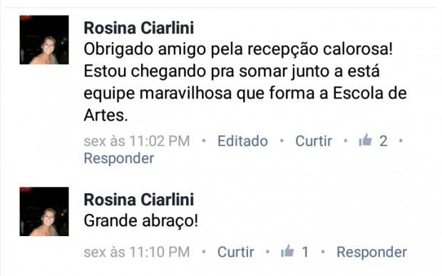 Rosina-Ciarlini-agradece-recepção-como-diretora-da-Escola-de-Artes-e1489442189829