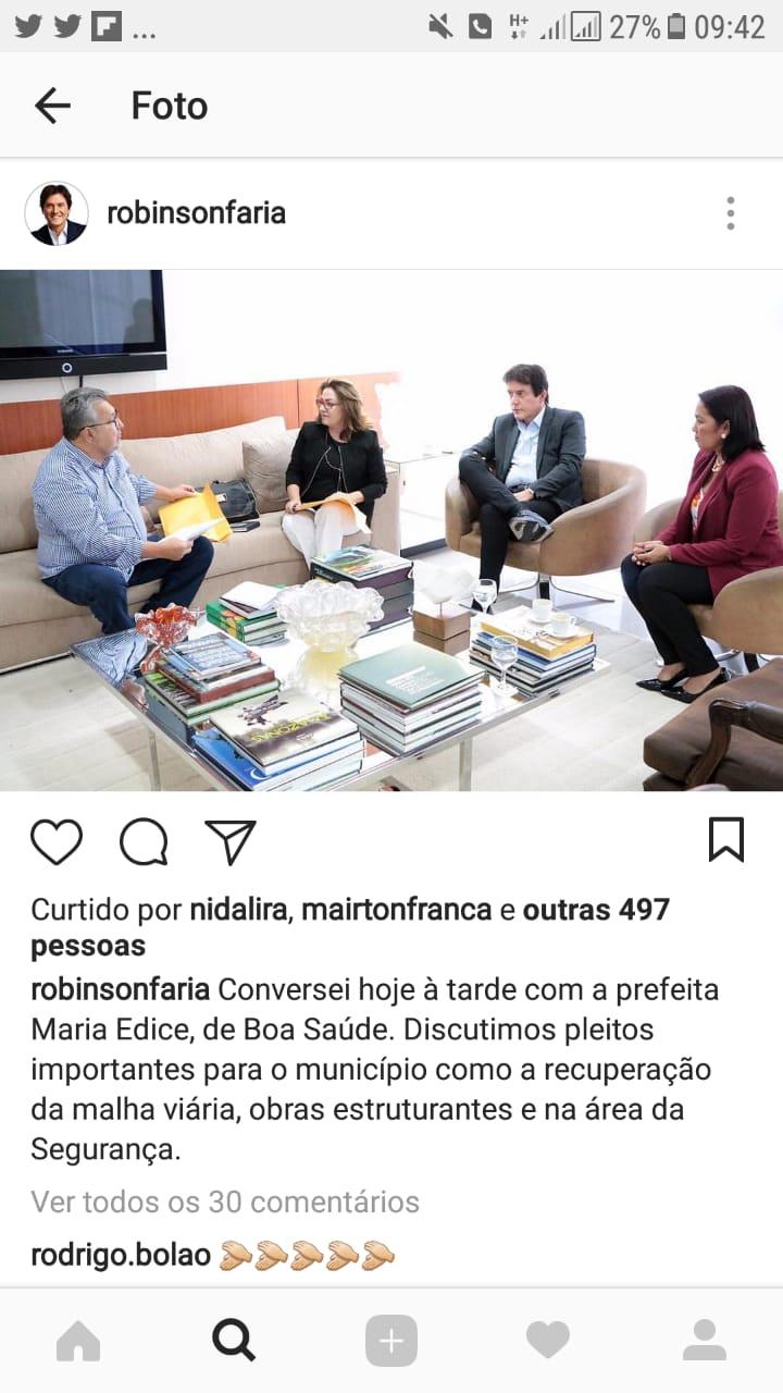 Instagram do governador expõe estratégia